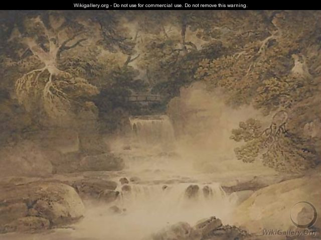 Cascade in Cottendale, the head of Wensleydale - Francis Nicholson