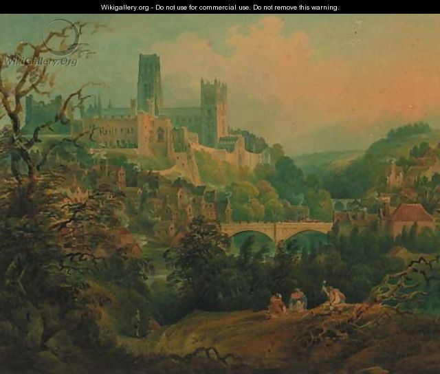 A distant view of Durham - Francis Nicholson
