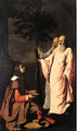 A young Gentleman kneeling before two elders - Francisco De Zurbaran