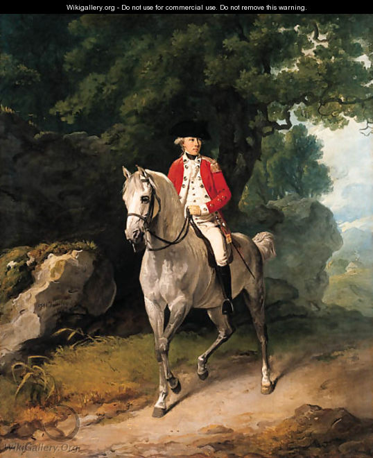 Equestrian portrait of Sir Henry Pigot (1750-1840) - Francis Wheatley