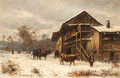 Winter on the Farm - Marie-Regis-Francois Gignoux
