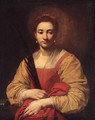 A female martyr saint Saint Catherine of Alexandria - Francesco Guarino