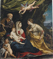 The Holy Family, with Saint Margaret and the Infant Saint John the Baptist - Francesco Giovanni Gessi