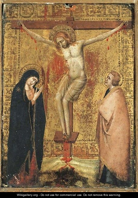 The Crucifixion with the Virgin and Saint John the Evangelist - Giotto Di Bondone