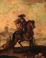 A trumpeter on horseback - Francesco Simonini