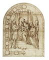 Design For An Altarpiece The Mystic Marriage Of Saint Catherine Of Siena With Saint John The Baptist - Francesco Vanni
