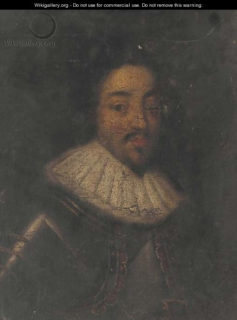 Portrait of a gentleman, bust-length in a white ruff - (after) Dyck, Sir Anthony van