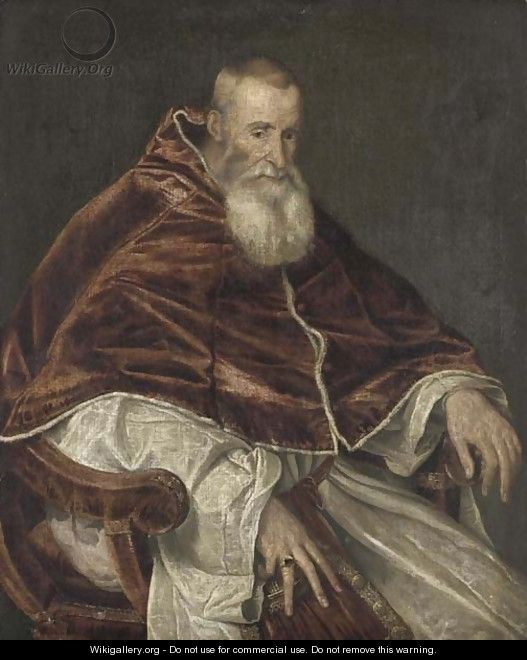 Portrait of Pope Paul III - (after) Tiziano Vecellio (Titian)