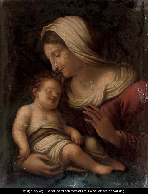 The Madonna and Child 3 - (after) Tiziano Vecellio (Titian)