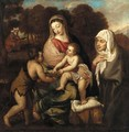 The Holy Family with Saint Elizabeth and the Infant Saint John the Baptist - (after) Tiziano Vecellio (Titian)