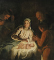 The Adoration of the Shepherds - a fragment - (after) Tiziano Vecellio (Titian)