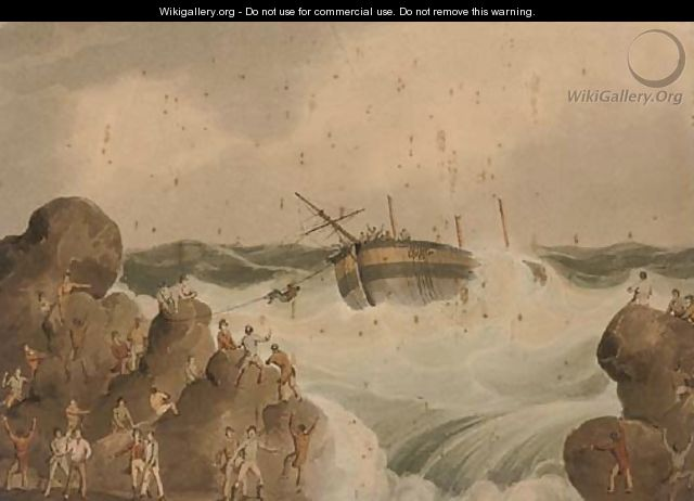 Salvaging the wreck - (after) William Daniell