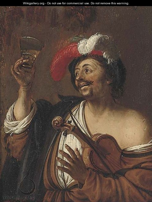 A drinker - (after) Willem Van Mieris