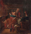 Soldiers courting a woman in a brothel - (after) Richard Brakenburg