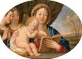 The Madonna and Child with attendant angels - Francesco Albani