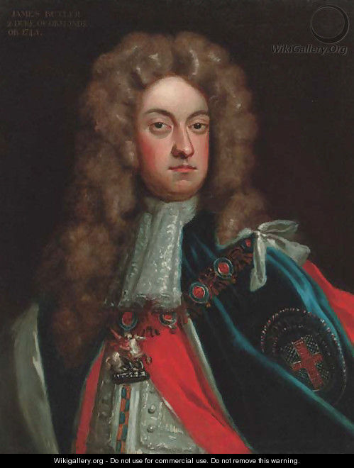 Portrait of James Butler, 2nd Duke of Ormonde (1665-1745), quarter-length, in Garter robes - (after) Kneller, Sir Godfrey