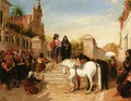 The Cavalier's Departure - (after) Landseer, Sir Edwin