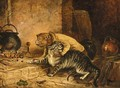 The cat's paw - (after) Landseer, Sir Edwin