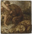 Hercules and the Nemean Lion - (after) Sir Peter Paul Rubens