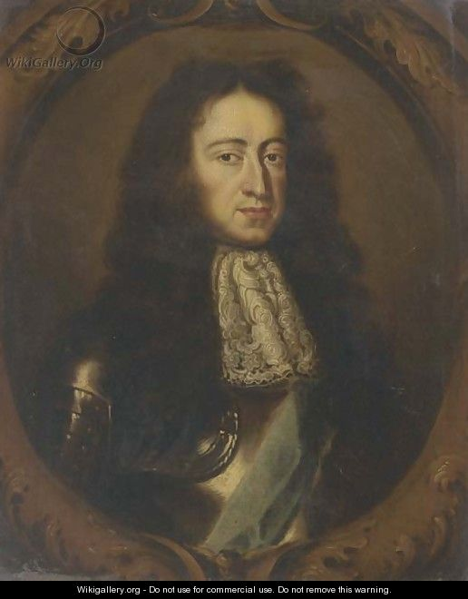 Portrait of William III (1650-1702) - (after) Sir Peter Lely