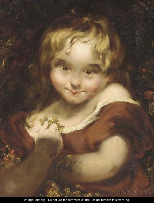 A young maiden - (after) Sir Joshua Reynolds
