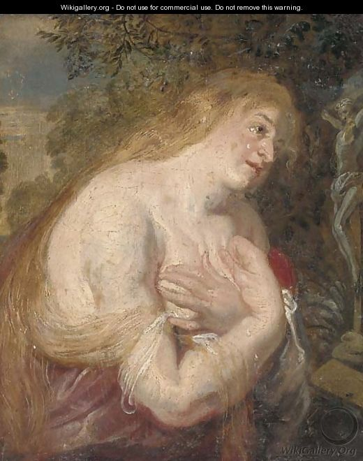 The Penitent Magdalen - (after) Sir Peter Paul Rubens