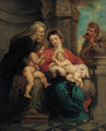 The Holy Family with Saint Anne and the Infant Saint John the Baptist - (after) Sir Peter Paul Rubens