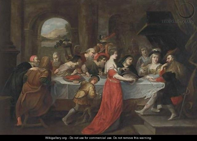 The Feast of Herod 3 - (after) Sir Peter Paul Rubens
