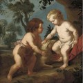 The Christ Child and the Infant Saint John the Baptist - (after) Sir Peter Paul Rubens