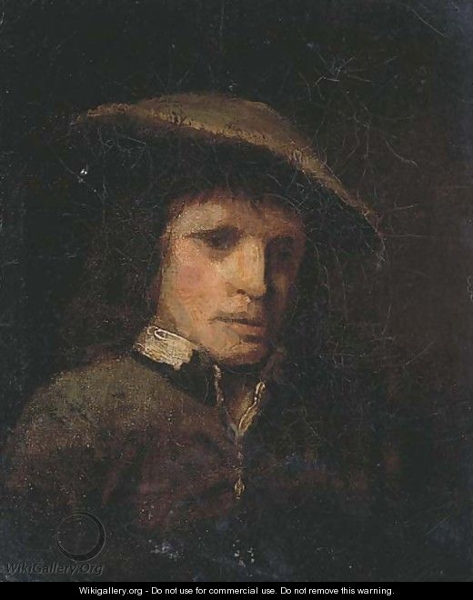 Portrait of a man - (after) Rembrandt Van Rijn