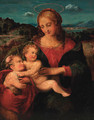 The Madonna and Child with the Infant Saint John the Baptist - (after) Raphael (Raffaello Sanzio of Urbino)