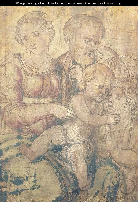 The Holy Family with the Infant Saint John the Baptist - (after) Raphael (Raffaello Sanzio of Urbino)