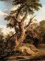 A tree on a bank in a riverbed - (after) Rosa, Salvator