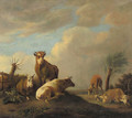 Cattle and sheep in a meadow - (after) Paulus Potter