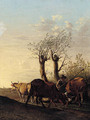 A cowherd in a landscape - (after) Paulus Potter
