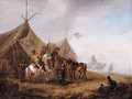 Cavalrymen taking refreshment in a camp - (after) Philips Wouwerman