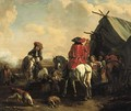 A herald at an encampment - (after) Philips Wouwerman