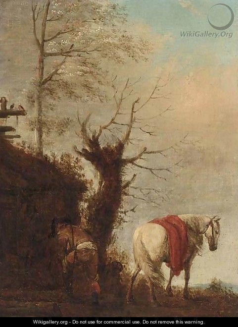Collecting firewood - (after) Philips Wouwerman