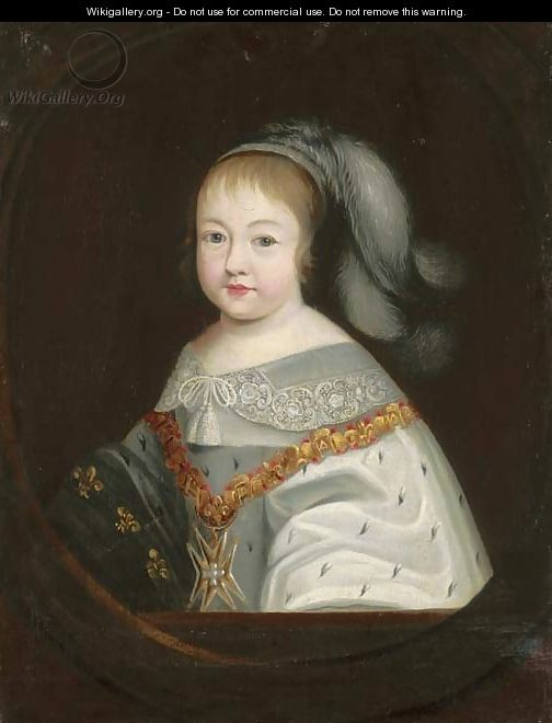 Portrait of the Infant King Louis XIV - (after) Philippe De Champaigne