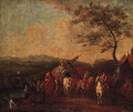 Figures resting by a Military Encampment - (after) Philips Wouwerman