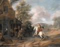 Travellers at the blacksmith's - (after) Philips Wouwerman