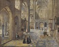 The interior of a Gothic church - (after) Peeter, The Elder Neeffs