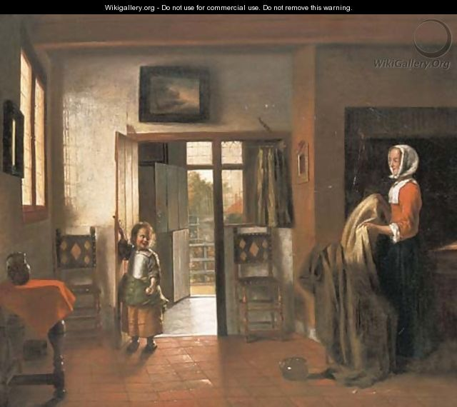 The Bedroom After Pieter De Hooch
