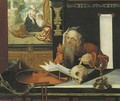 Saint Jerome in his study - (after) Marinus Van Reymerswaele