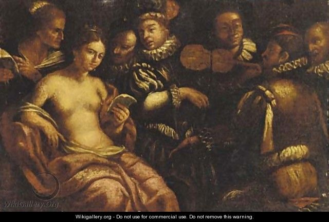 A musical gathering - (after) Michelangelo Merisi Da Caravaggio