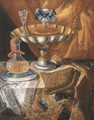 A wine glass on a silver-gilt tazza - (after) Maximillian Pfeiler