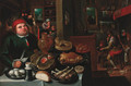 The Rich and the Poor kitchen - (after) Marten Van Cleve