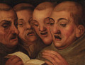 Four monks singing - (after) Marten Van Cleve