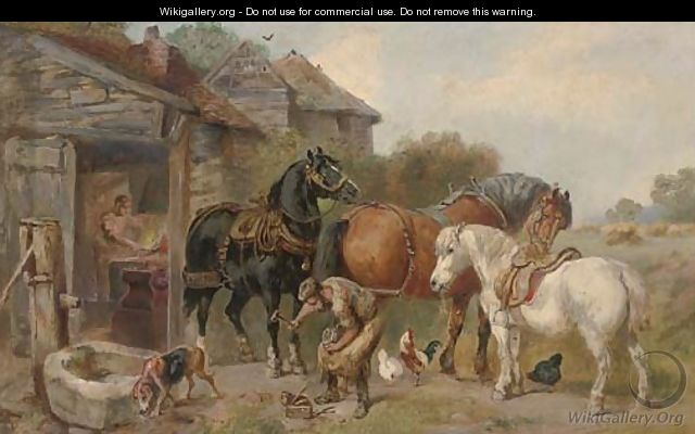 At the farriers - (after) John Sargeant Noble