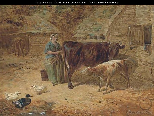 Milking time - (after) John Frederick Jnr Herring